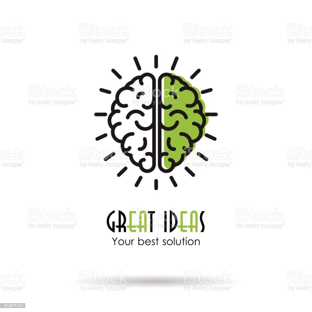 Linear Icon - Great ideas - brain vector art illustration