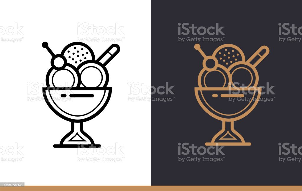 Linear icon ICECREAM of bakery, cooking. Vector pictogram suitable for websites, presentation and print media linear icon icecream of bakery cooking vector pictogram suitable for websites presentation and print media - stockowe grafiki wektorowe i więcej obrazów bez ludzi royalty-free