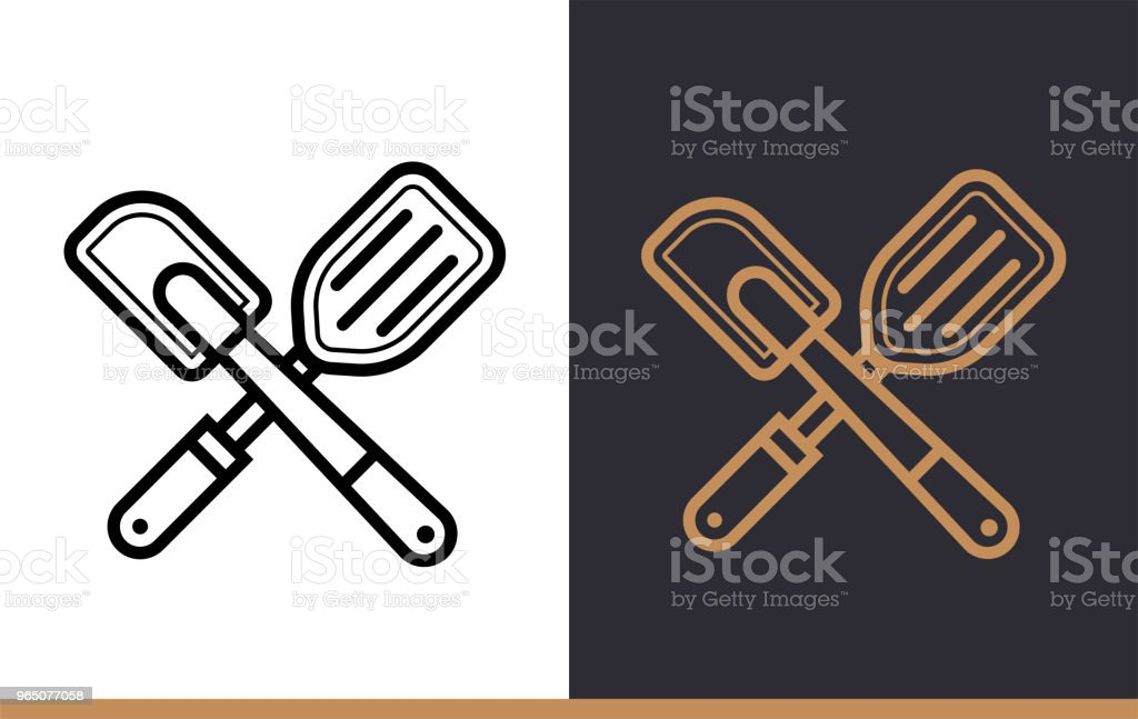 Linear icon Kitchen spatula of bakery, cooking. Vector pictogram suitable for websites, presentation and print media royalty-free linear icon kitchen spatula of bakery cooking vector pictogram suitable for websites presentation and print media stock vector art & more images of bakery