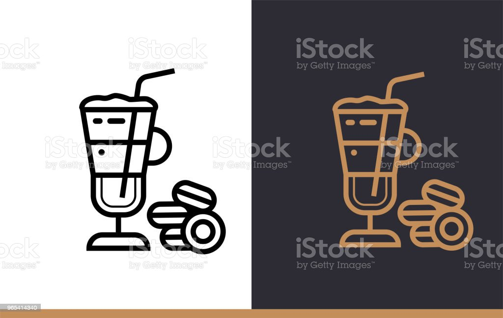 Linear icon LATTE of bakery, cooking. Pictogram in outline style. Suitable for mobile apps, websites and presentation linear icon latte of bakery cooking pictogram in outline style suitable for mobile apps websites and presentation - stockowe grafiki wektorowe i więcej obrazów bez ludzi royalty-free