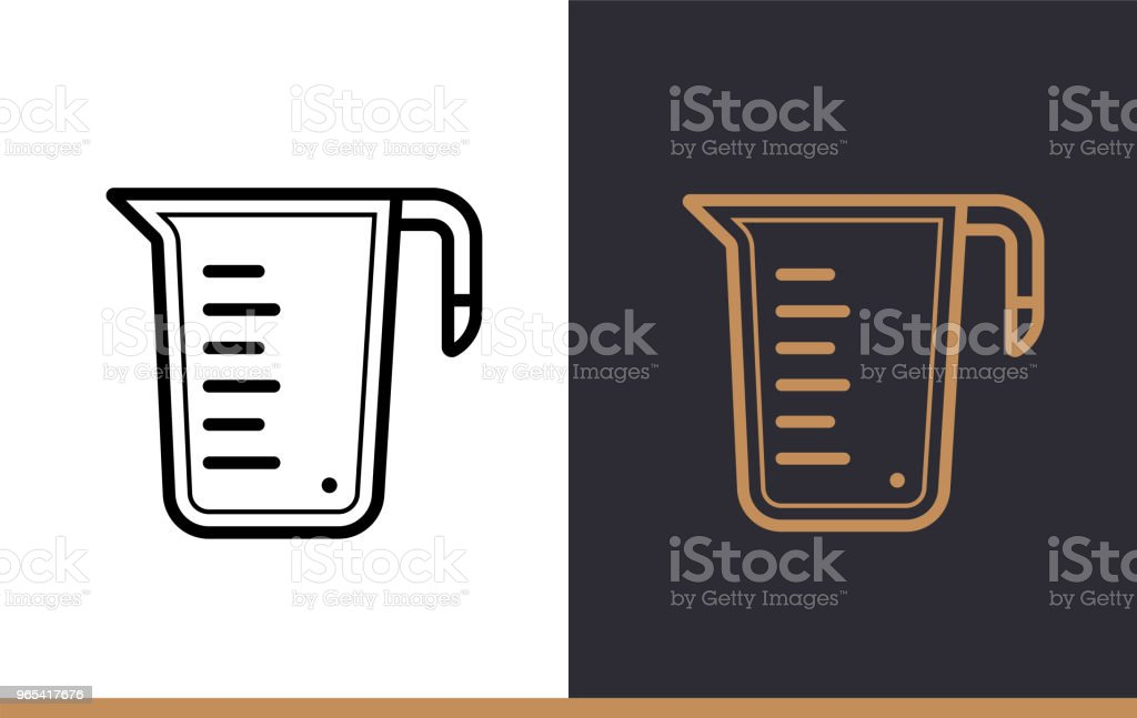 Linear icon MEASURE CUP of bakery, cooking. Pictogram in outline style. Suitable for mobile apps, websites and presentation royalty-free linear icon measure cup of bakery cooking pictogram in outline style suitable for mobile apps websites and presentation stock vector art & more images of bakery