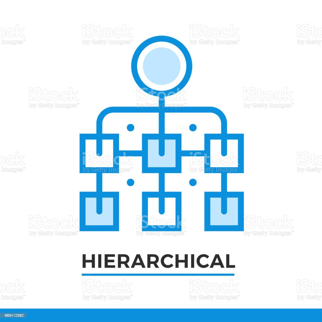 Linear icon of hierarchical scheme. Pictogram in outline style. Vector modern flat design element for mobile application and web design. linear icon of hierarchical scheme pictogram in outline style vector modern flat design element for mobile application and web design - stockowe grafiki wektorowe i więcej obrazów bez ludzi royalty-free
