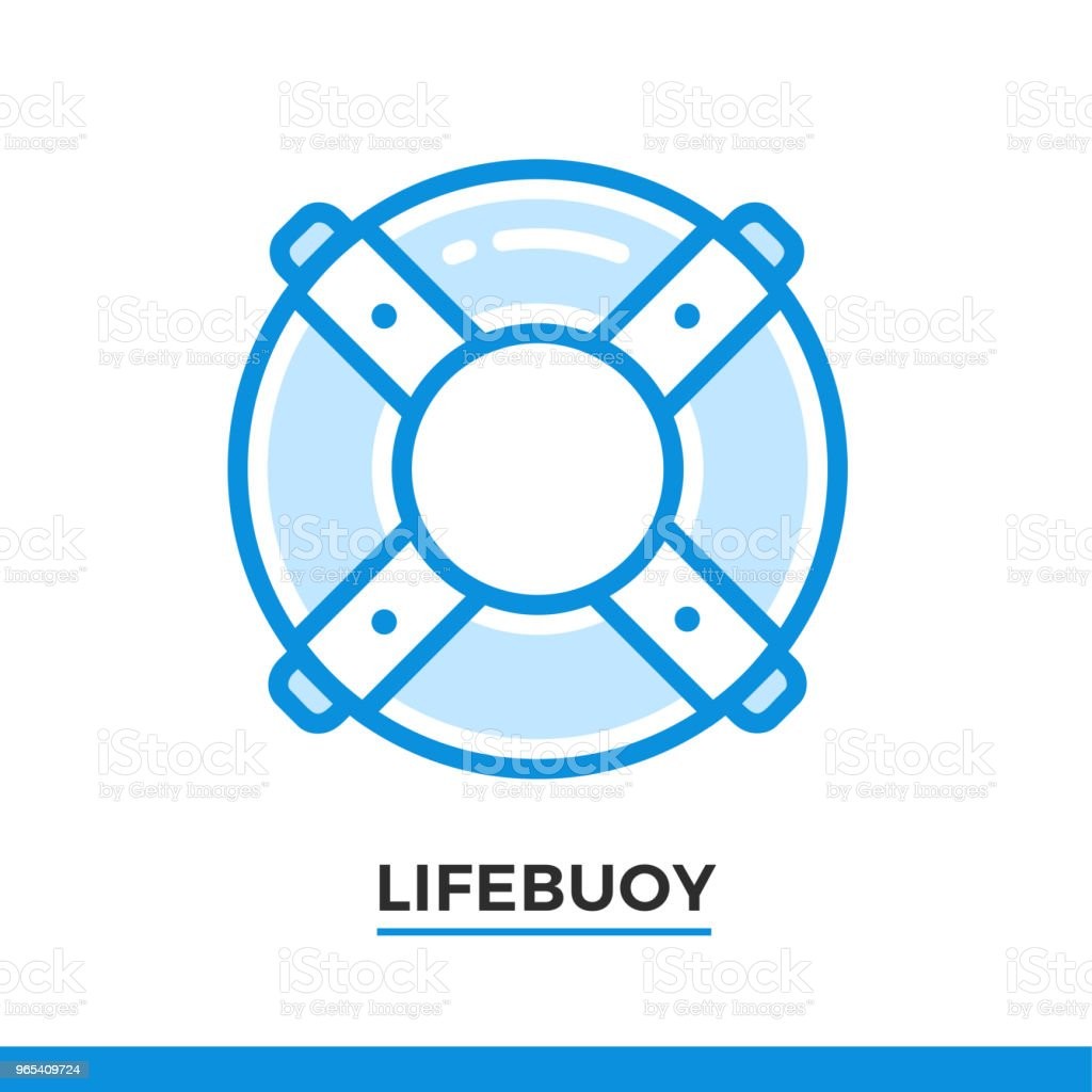 Linear icon of lifebuoy. Pictogram in outline style on white. Vector modern flat design element for mobile application and web design. linear icon of lifebuoy pictogram in outline style on white vector modern flat design element for mobile application and web design - stockowe grafiki wektorowe i więcej obrazów bez ludzi royalty-free