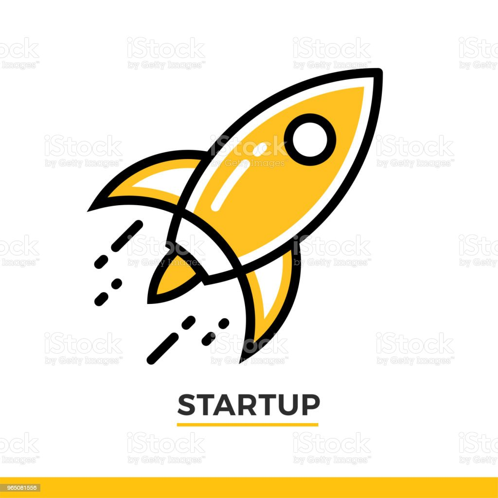 Linear icon of rocket launch. Pictogram in outline style on white. Vector modern flat design element for mobile application and web design. linear icon of rocket launch pictogram in outline style on white vector modern flat design element for mobile application and web design - stockowe grafiki wektorowe i więcej obrazów bez ludzi royalty-free