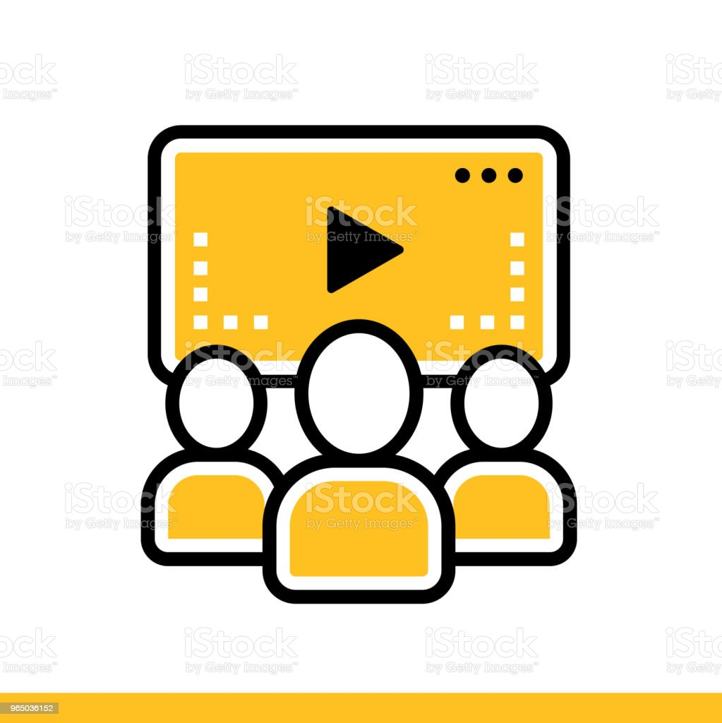 Linear icon Online lecture. Online education, e-learning. Suitable for print, interface, web, presentation royalty-free linear icon online lecture online education elearning suitable for print interface web presentation stock vector art & more images of design