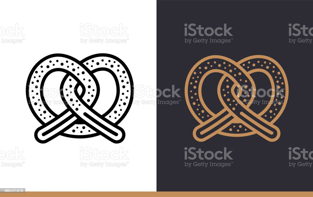 Linear icon PRETZEL of bakery, cooking. Pictogram in outline style. Suitable for mobile apps, websites and presentation royalty-free linear icon pretzel of bakery cooking pictogram in outline style suitable for mobile apps websites and presentation stock vector art & more images of bakery