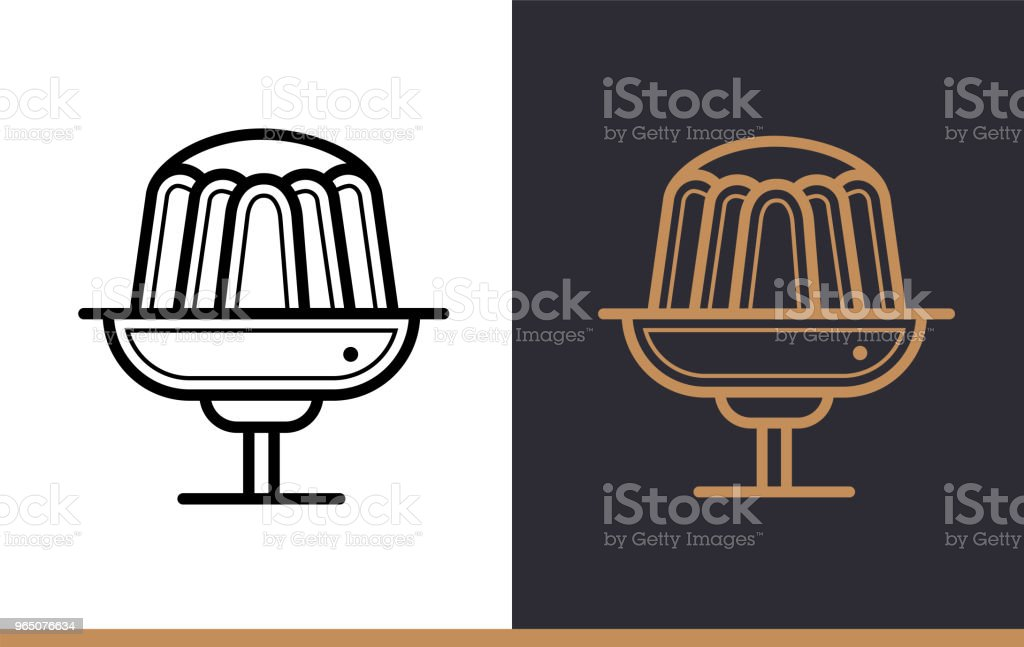 Linear icon PUDDING of bakery, cooking. Vector pictogram suitable for websites, presentation and print media royalty-free linear icon pudding of bakery cooking vector pictogram suitable for websites presentation and print media stock vector art & more images of bakery