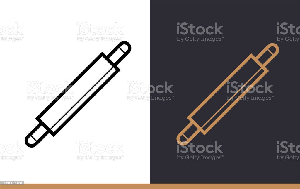 Linear icon ROLLING PIN of bakery, cooking. Pictogram in outline style. Suitable for mobile apps, websites and presentation royalty-free linear icon rolling pin of bakery cooking pictogram in outline style suitable for mobile apps websites and presentation stock vector art & more images of bakery