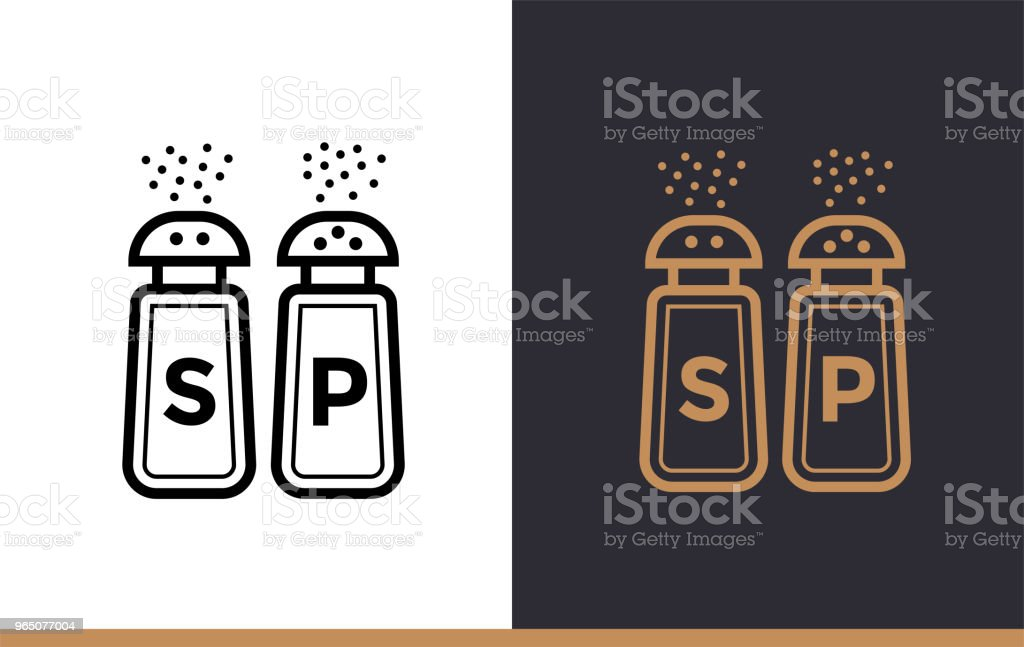 Linear icon SALT, PEPPER SHAKERS of bakery, cooking. Vector pictogram suitable for websites, presentation and print media royalty-free linear icon salt pepper shakers of bakery cooking vector pictogram suitable for websites presentation and print media stock vector art & more images of bakery