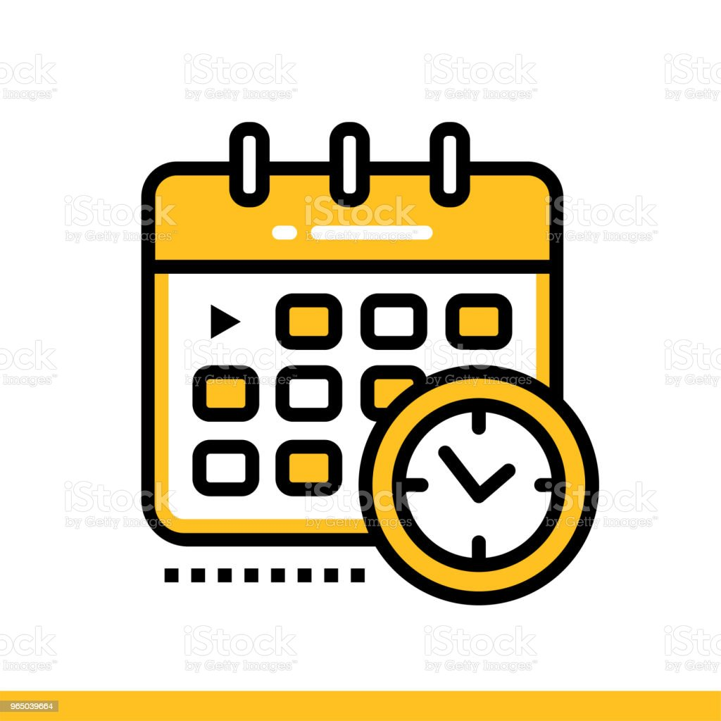 Linear icon Schedule. Online education, e-learning. Suitable for print, interface, web, presentation linear icon schedule online education elearning suitable for print interface web presentation - stockowe grafiki wektorowe i więcej obrazów bez ludzi royalty-free