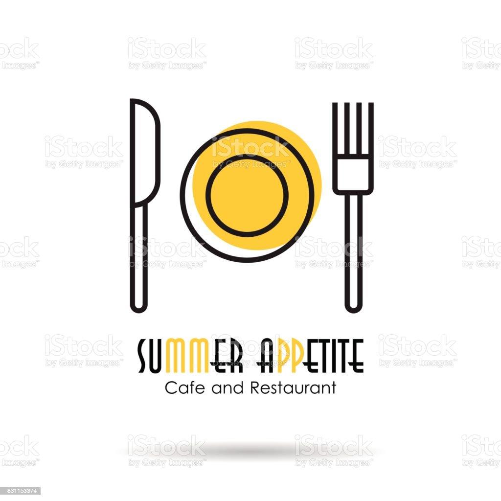 Ícone de linear - apetite de verão - ilustração de arte em vetor