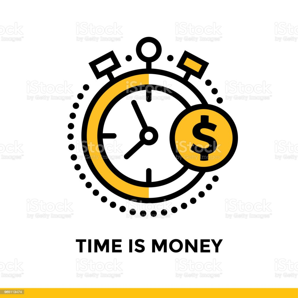 Linear icon TIME IS MONEY of finance, banking. Pictogram in outline style. Suitable for mobile apps, websites and design templates linear icon time is money of finance banking pictogram in outline style suitable for mobile apps websites and design templates - stockowe grafiki wektorowe i więcej obrazów bankowość royalty-free