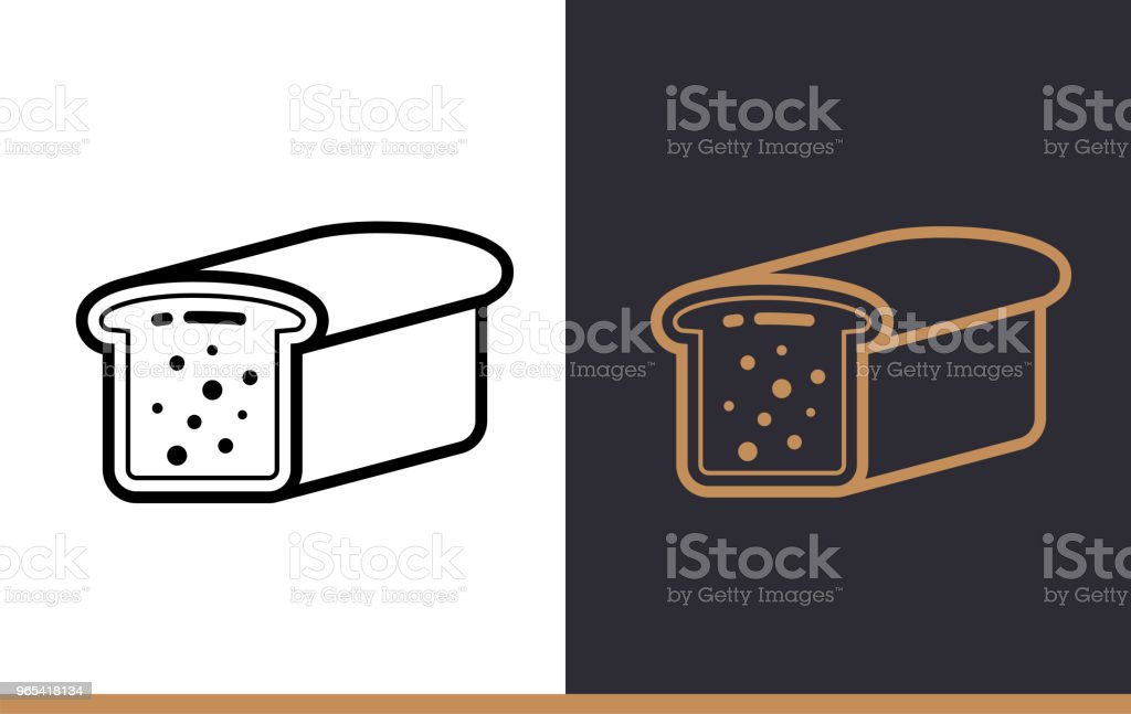 Linear icon TOAST BREAD of bakery, cooking. Pictogram in outline style. Suitable for mobile apps, websites and presentation royalty-free linear icon toast bread of bakery cooking pictogram in outline style suitable for mobile apps websites and presentation stock vector art & more images of bakery