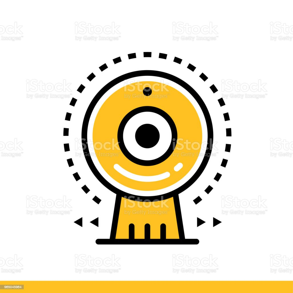 Linear icon Web camera. Online education, e-learning. Suitable for print, interface, web, presentation royalty-free linear icon web camera online education elearning suitable for print interface web presentation stock vector art & more images of design