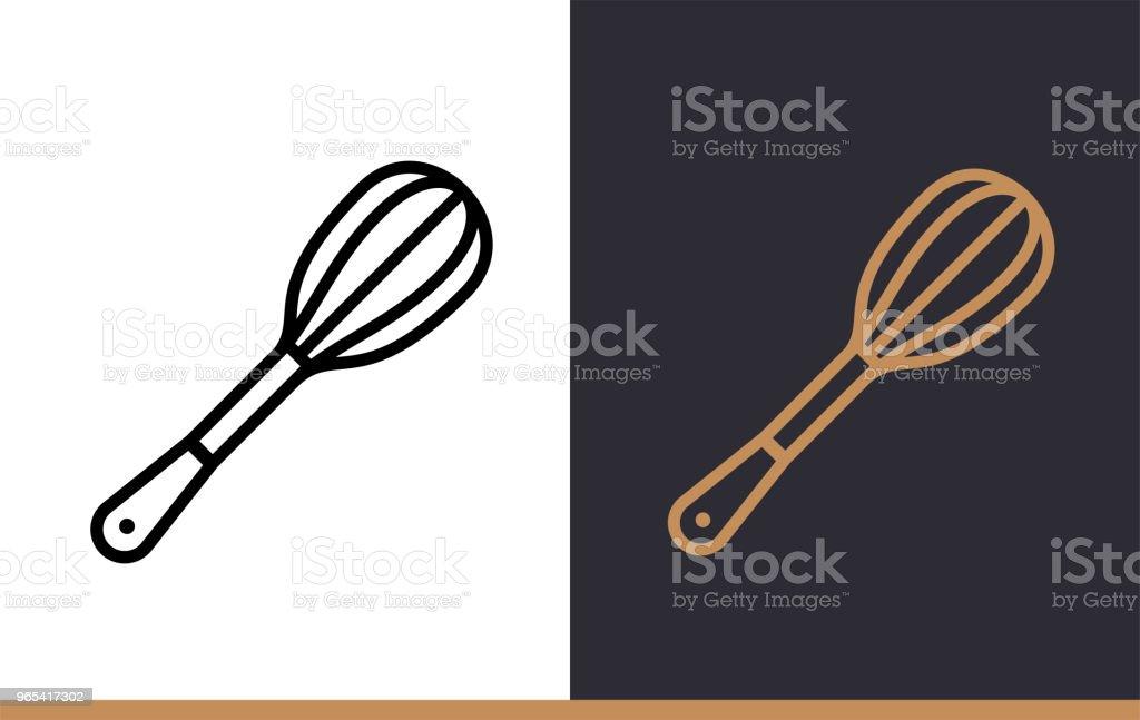 Lineare Symbol SCHNEEBESEN Bäckerei, Kochen. Piktogramm in Umriss-Stil. Geeignet für mobile apps, Websites und Präsentation - Lizenzfrei Bäckerei Vektorgrafik
