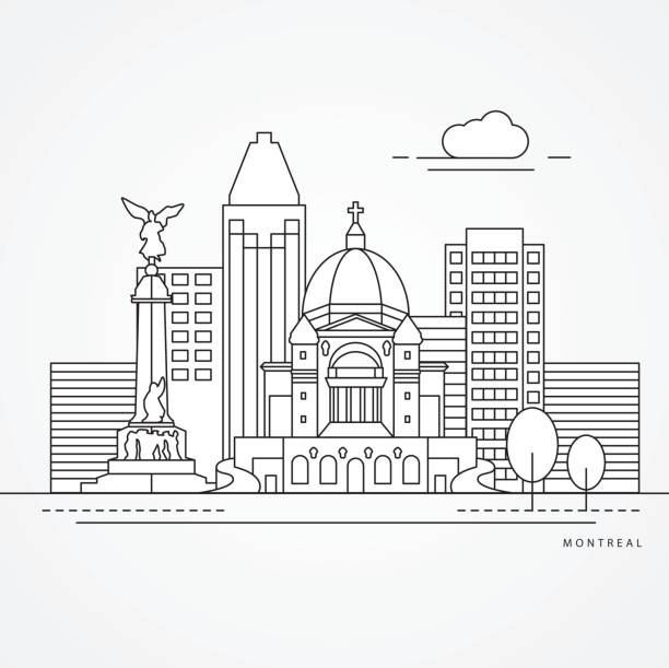 Best Montreal Canada Illustrations, Royalty-Free Vector