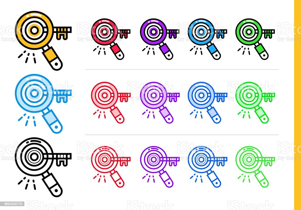 Linear keyword research icon for startup business in different colors. Vector elements for website, mobile application royalty-free linear keyword research icon for startup business in different colors vector elements for website mobile application stock vector art & more images of business