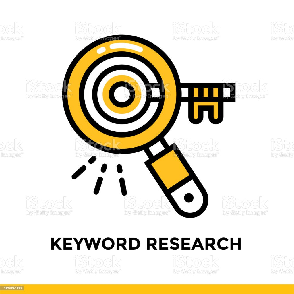 Linear keyword research icon for startup business. Pictogram in outline style. Vector flat line icon suitable for mobile apps, websites and presentation linear keyword research icon for startup business pictogram in outline style vector flat line icon suitable for mobile apps websites and presentation - stockowe grafiki wektorowe i więcej obrazów badania royalty-free