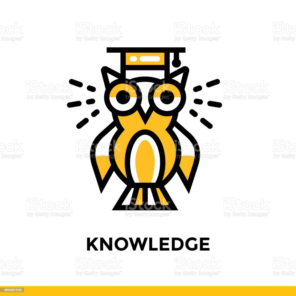 Linear KNOWLEDGE icon for education. Pictogram in outline style. Vector modern flat design element for mobile application and web design linear knowledge icon for education pictogram in outline style vector modern flat design element for mobile application and web design - stockowe grafiki wektorowe i więcej obrazów grafika wektorowa royalty-free