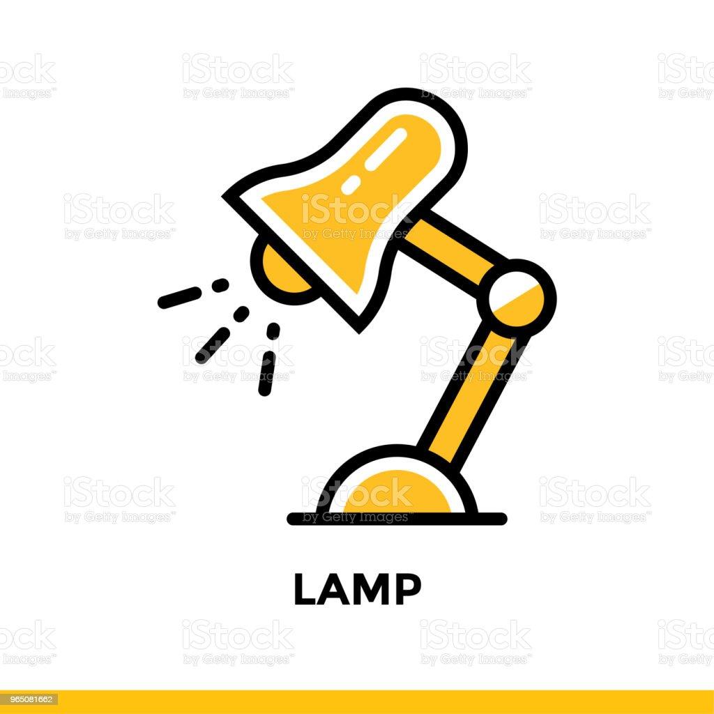 Linear LAMP icon for education. Pictogram in outline style. Vector modern flat design element for mobile application and web design linear lamp icon for education pictogram in outline style vector modern flat design element for mobile application and web design - stockowe grafiki wektorowe i więcej obrazów bezpieczeństwo royalty-free