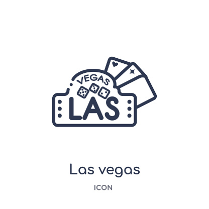Linear las vegas icon from Maps and Flags outline collection. Thin line las vegas icon isolated on white background. las vegas trendy illustration