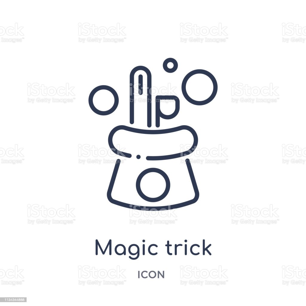 Linear magic trick icon from Magic outline collection. Thin line...
