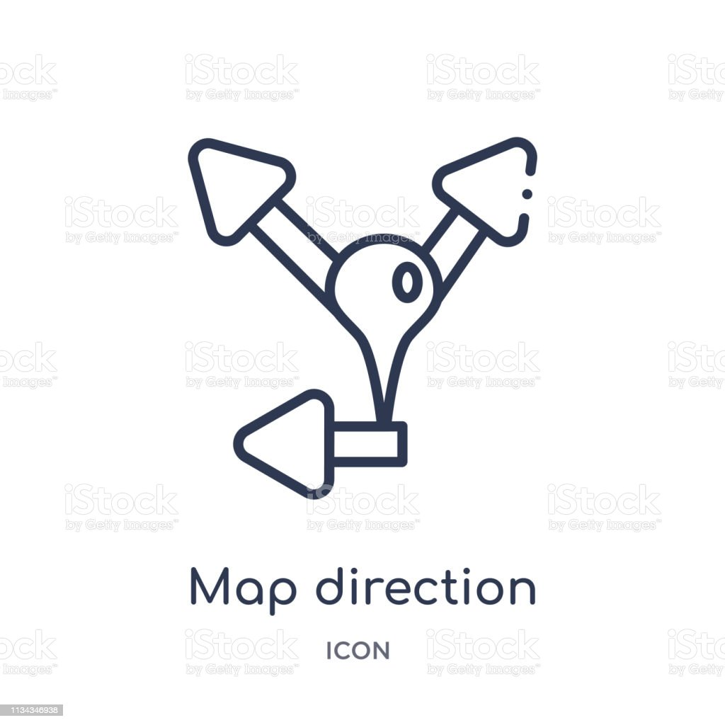 Linear Map Direction Icon From Maps And Locations Outline Collection on links icon, mapquest desktop icon, schedule icon, contact icon, emergency desktop icon, map directional arrows, about us icon, maps app icon, data mapping icon, right icon, apple maps icon, map icons clip art, private party icon,