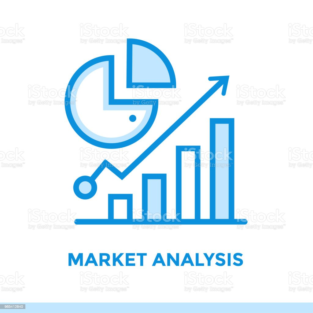 Linear market analysis icon for startup business. Pictogram in outline style. Vector flat line icon suitable for mobile apps, websites and presentation linear market analysis icon for startup business pictogram in outline style vector flat line icon suitable for mobile apps websites and presentation - stockowe grafiki wektorowe i więcej obrazów bez ludzi royalty-free