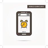 Linear mobile alarm clock