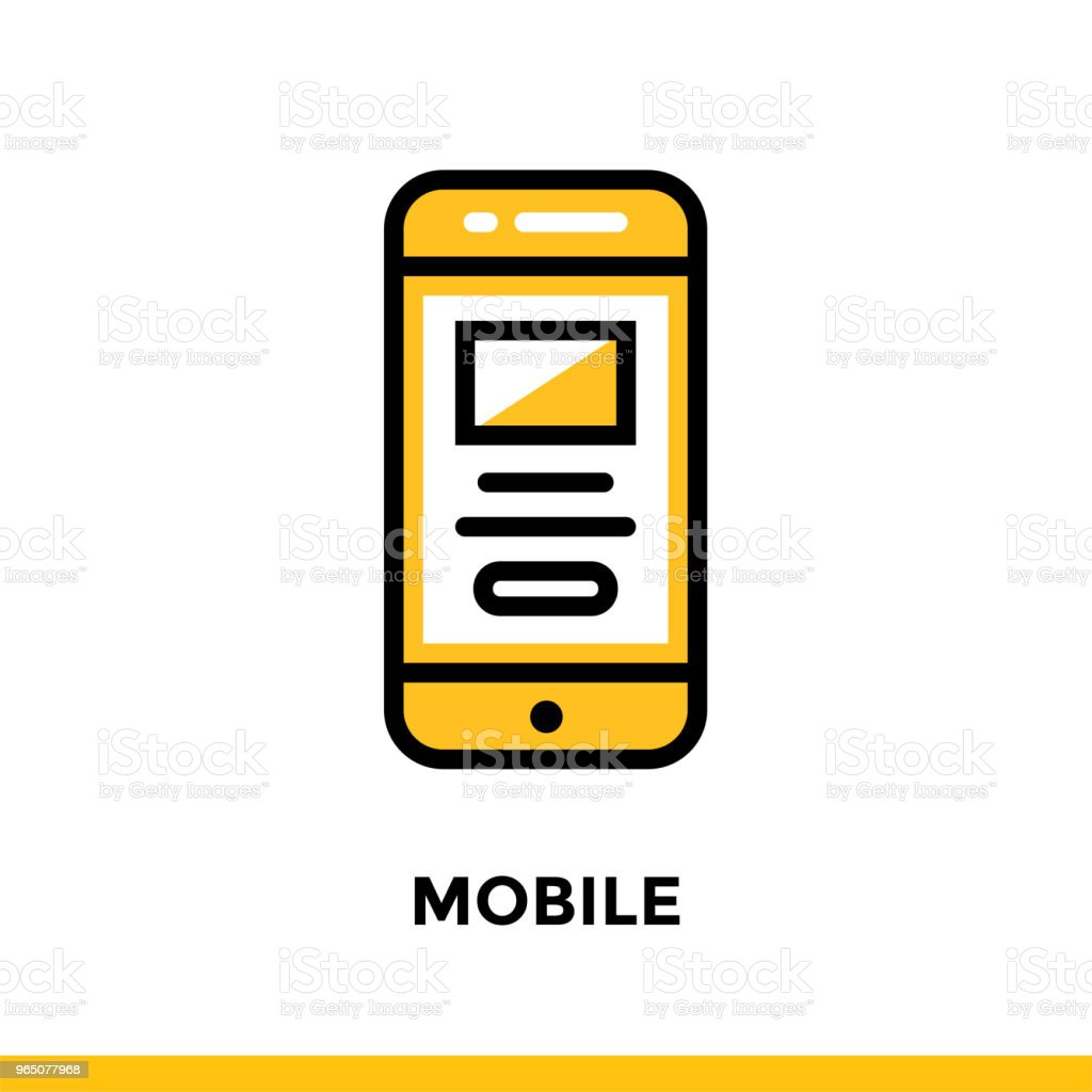 Linear mobile icon for startup business. Pictogram in outline style. Vector flat line icon suitable for mobile apps, websites and presentation royalty-free linear mobile icon for startup business pictogram in outline style vector flat line icon suitable for mobile apps websites and presentation stock vector art & more images of business
