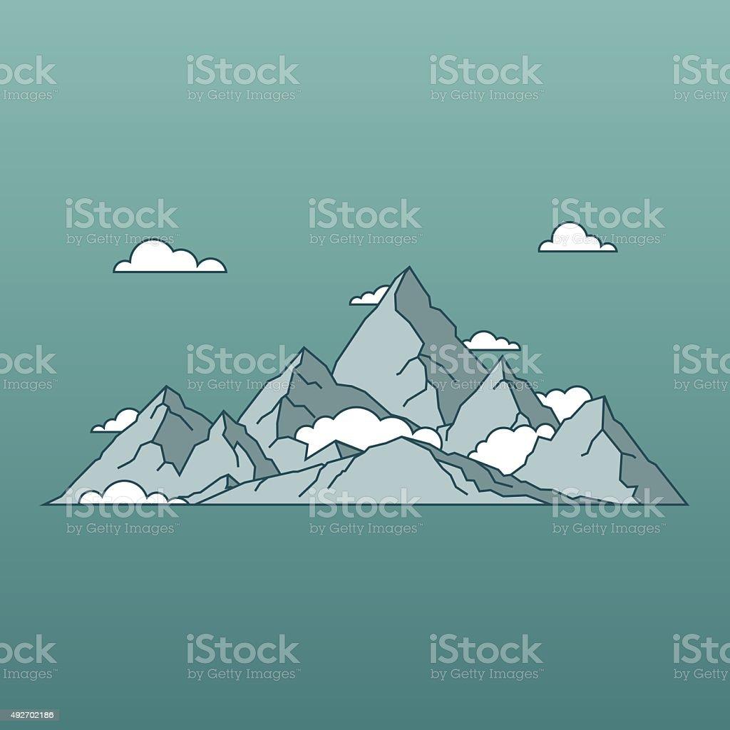 Linear Montagnes Paysage A Un Style Minimaliste Nature Et De Voyages