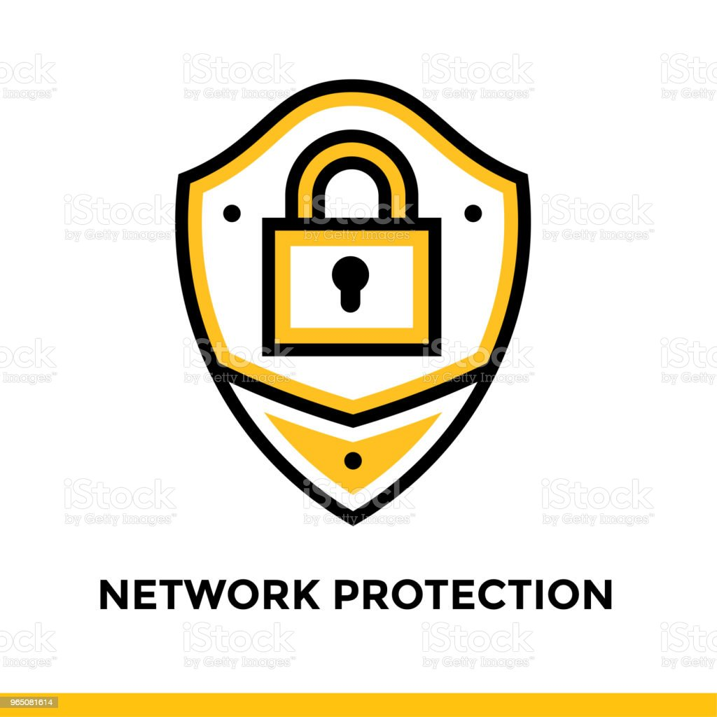 Linear network protection icon for startup business. Pictogram in outline style. Vector flat line icon suitable for mobile apps, websites and presentation linear network protection icon for startup business pictogram in outline style vector flat line icon suitable for mobile apps websites and presentation - stockowe grafiki wektorowe i więcej obrazów bez ludzi royalty-free