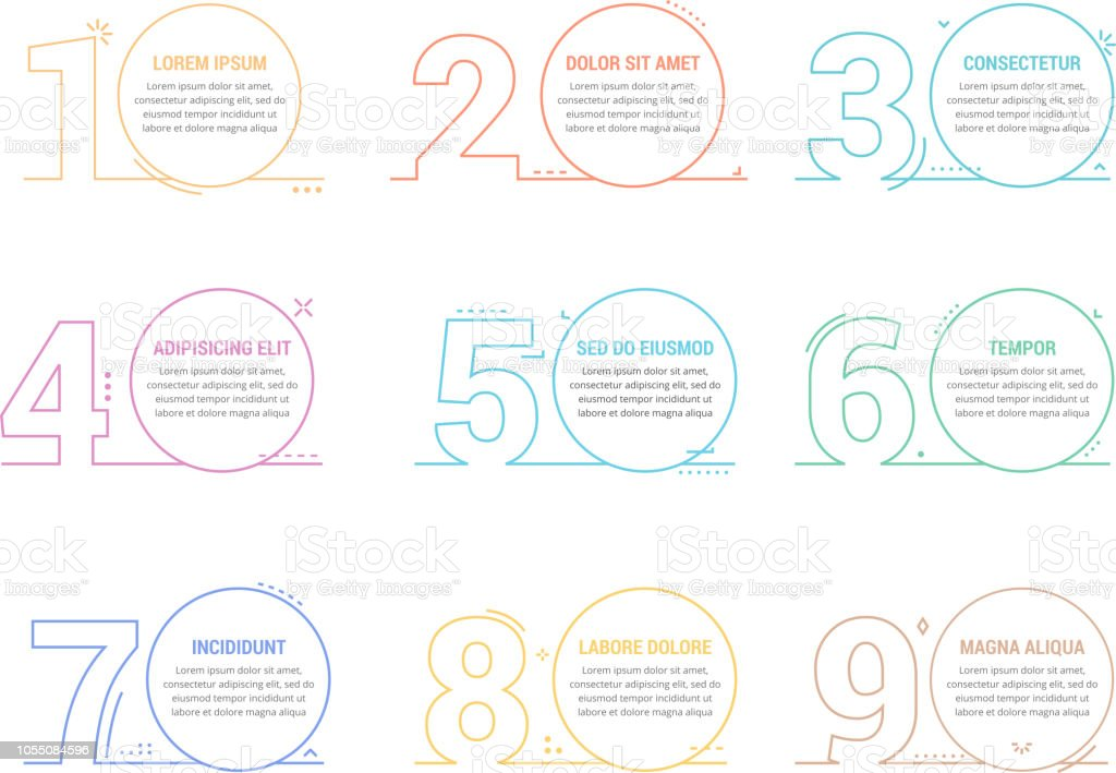 Linear Numbers with Place for your Text royalty-free linear numbers with place for your text stock illustration - download image now