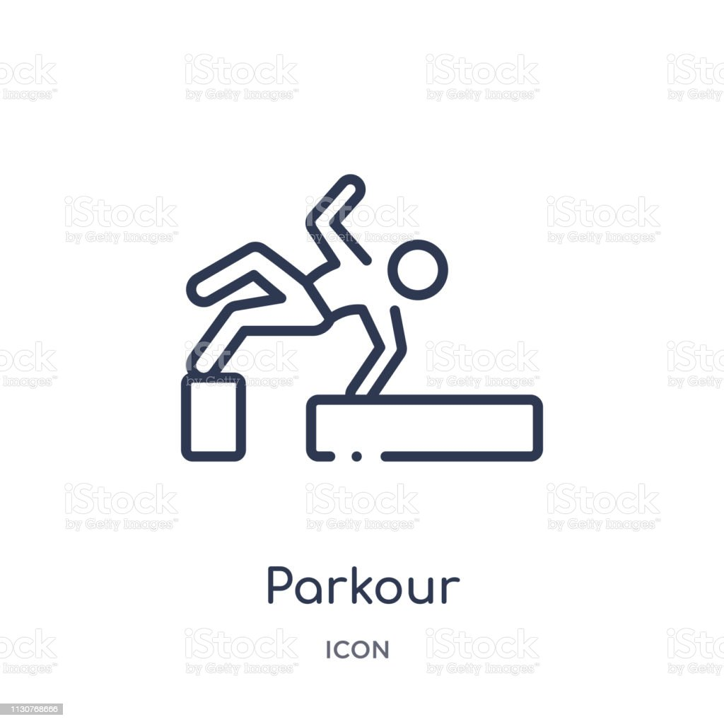 Linear parkour icon from Activity and hobbies outline collection....