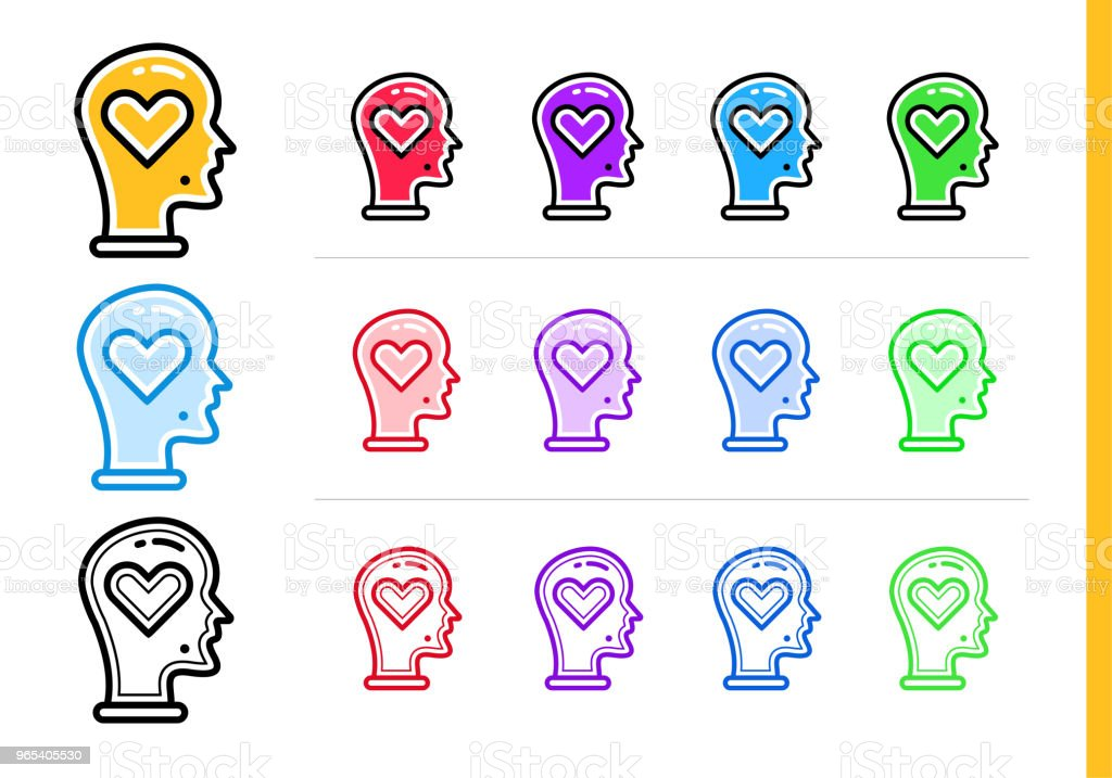 Linear passion icon for startup business in different colors. Vector elements suitable for website, mobile application and presentation royalty-free linear passion icon for startup business in different colors vector elements suitable for website mobile application and presentation stock vector art & more images of business