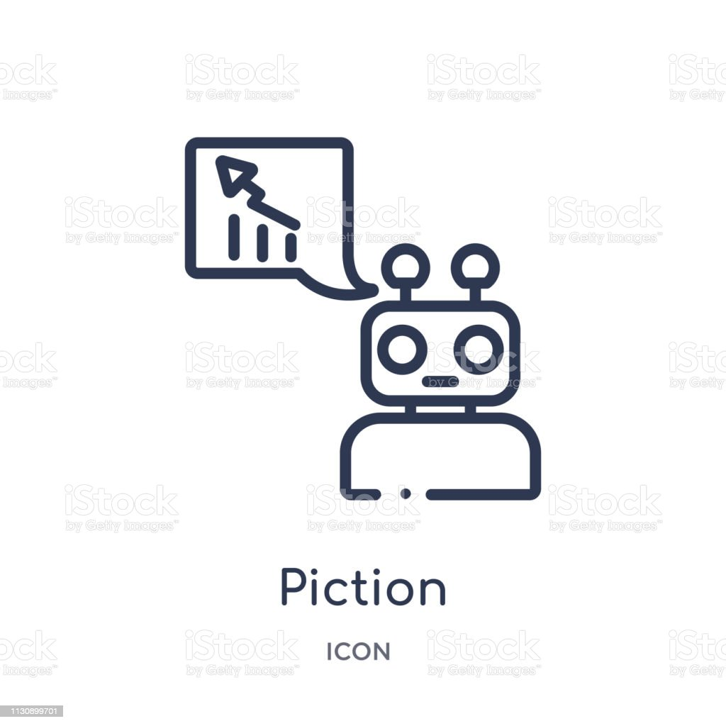 Linear piction icon from Artifical intelligence outline collection. Thin line piction vector isolated on white background. piction trendy illustration vector art illustration