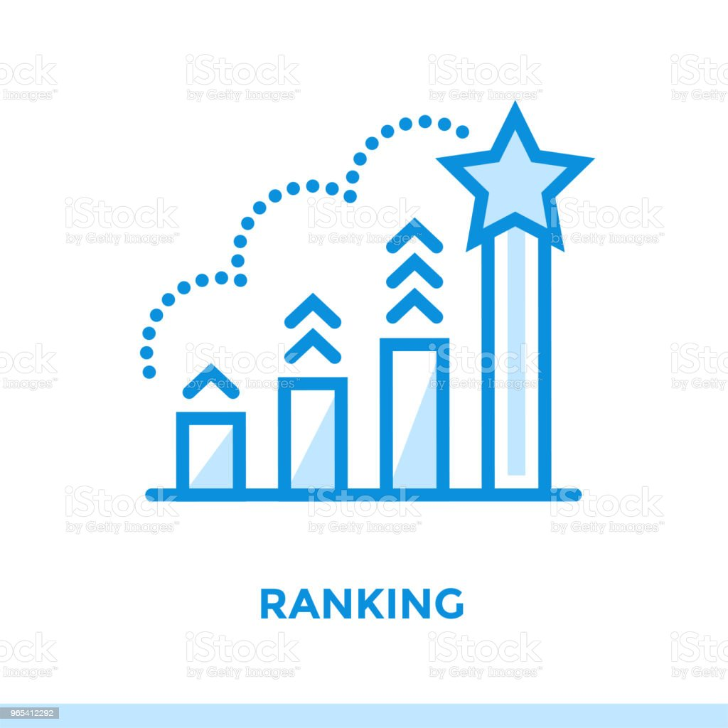 Linear ranking icon for startup business. Pictogram in outline style. Vector flat line icon suitable for mobile apps, websites and presentation linear ranking icon for startup business pictogram in outline style vector flat line icon suitable for mobile apps websites and presentation - stockowe grafiki wektorowe i więcej obrazów bez ludzi royalty-free