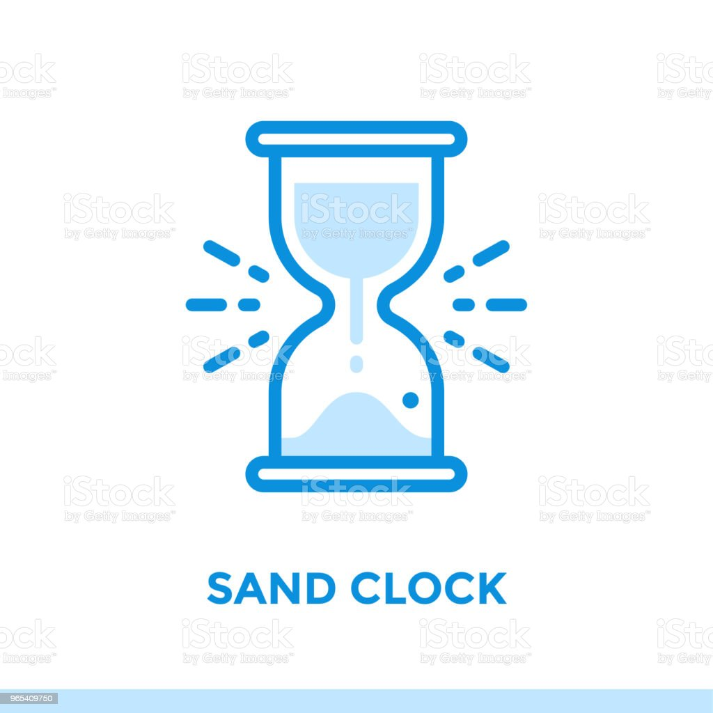 Linear Sand Clock Icon For New Business Pictogram In Outline