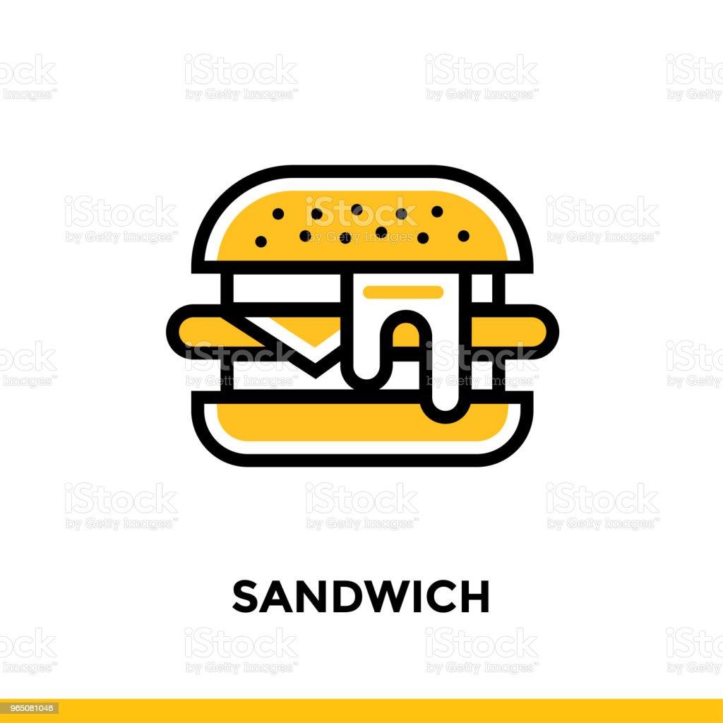 Linear SANDWICH icon. Vector elements suitable for website and presentation linear sandwich icon vector elements suitable for website and presentation - stockowe grafiki wektorowe i więcej obrazów bez ludzi royalty-free