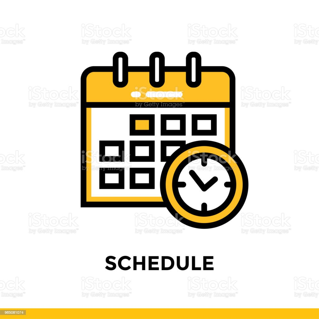 Linear SCHEDULE icon for education. Pictogram in outline style. Vector modern flat design element for mobile application and web design linear schedule icon for education pictogram in outline style vector modern flat design element for mobile application and web design - stockowe grafiki wektorowe i więcej obrazów grafika wektorowa royalty-free