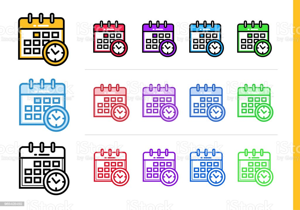 Linear SCHEDULE icon for education. Vector line icons suitable for info graphics, print media and interfaces royalty-free linear schedule icon for education vector line icons suitable for info graphics print media and interfaces stock vector art & more images of calendar