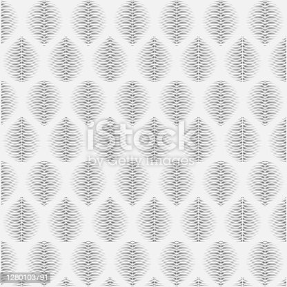 istock Linear seamless abstract leaves. 1280103791
