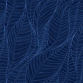 Linear seamless texture on the basis of abstract leaves.