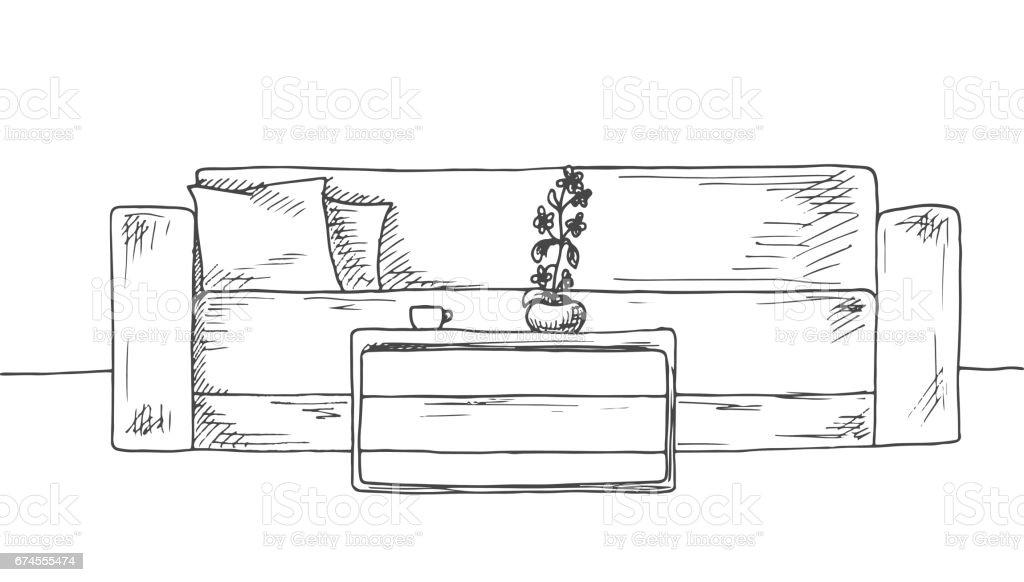 Sala de estar dibujo trendy creativo de dibujos animados for Sala de estar dibujo