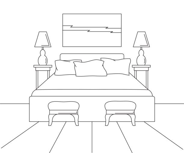Bedroom Clip Art Black And White Bedroom Ceiling Tv Mount Bedroom Apartment Design Ideas Bedroom Ideas Luxury: Royalty Free Simple Bedroom Clip Art, Vector Images