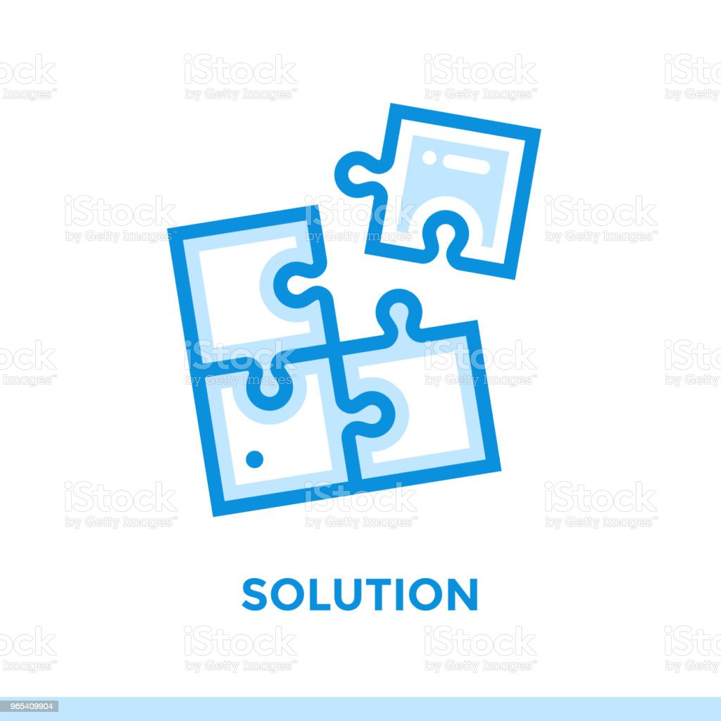 Linear solution icon for new business. Pictogram in outline style. Vector modern flat icon suitable for print, presentation and website royalty-free linear solution icon for new business pictogram in outline style vector modern flat icon suitable for print presentation and website stock vector art & more images of business