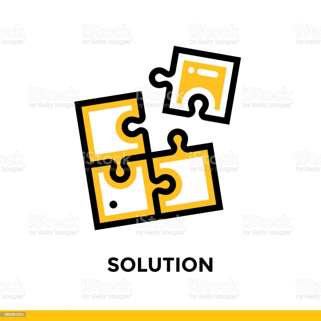 Linear solution icon for startup business. Pictogram in outline style. Vector flat line icon suitable for mobile apps, websites and presentation linear solution icon for startup business pictogram in outline style vector flat line icon suitable for mobile apps websites and presentation - stockowe grafiki wektorowe i więcej obrazów bez ludzi royalty-free