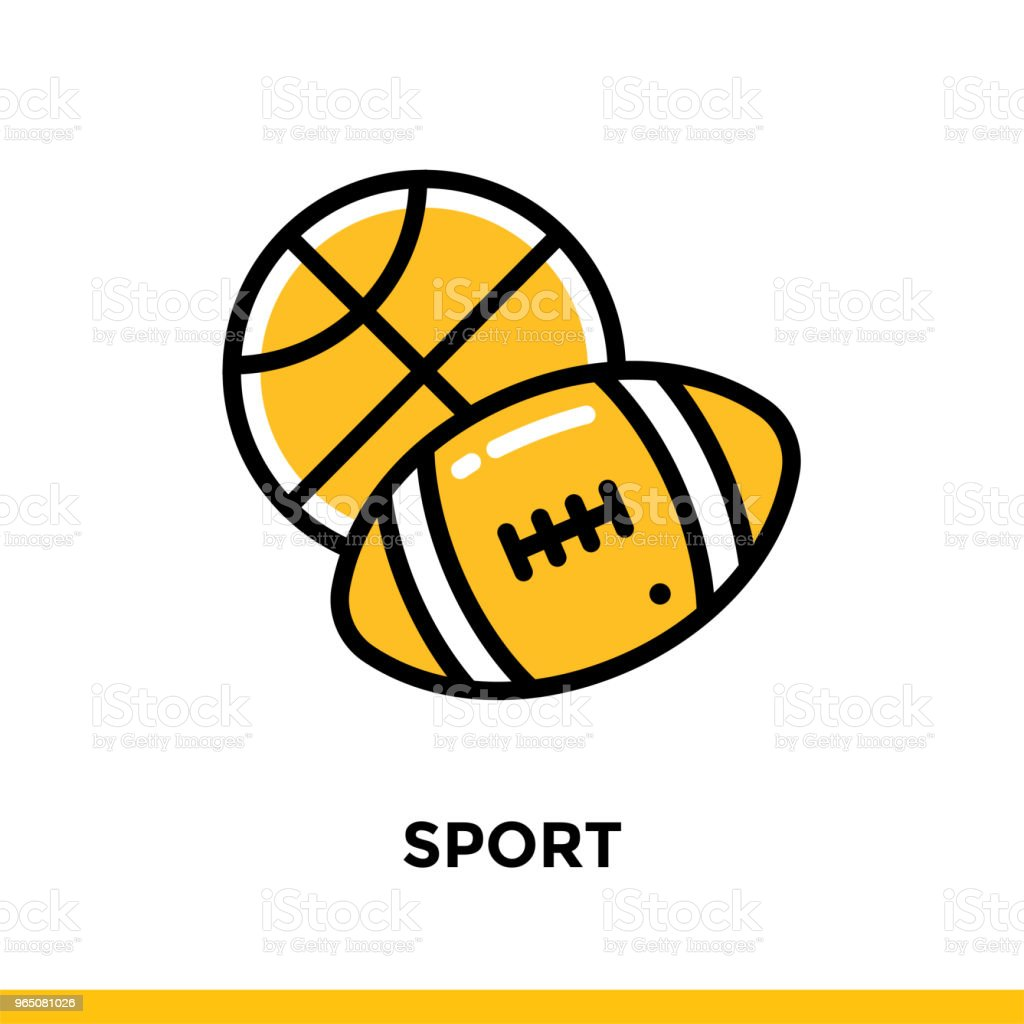Linear SPORT icon for education. Pictogram in outline style. Vector modern flat design element for mobile application and web design linear sport icon for education pictogram in outline style vector modern flat design element for mobile application and web design - stockowe grafiki wektorowe i więcej obrazów grafika wektorowa royalty-free