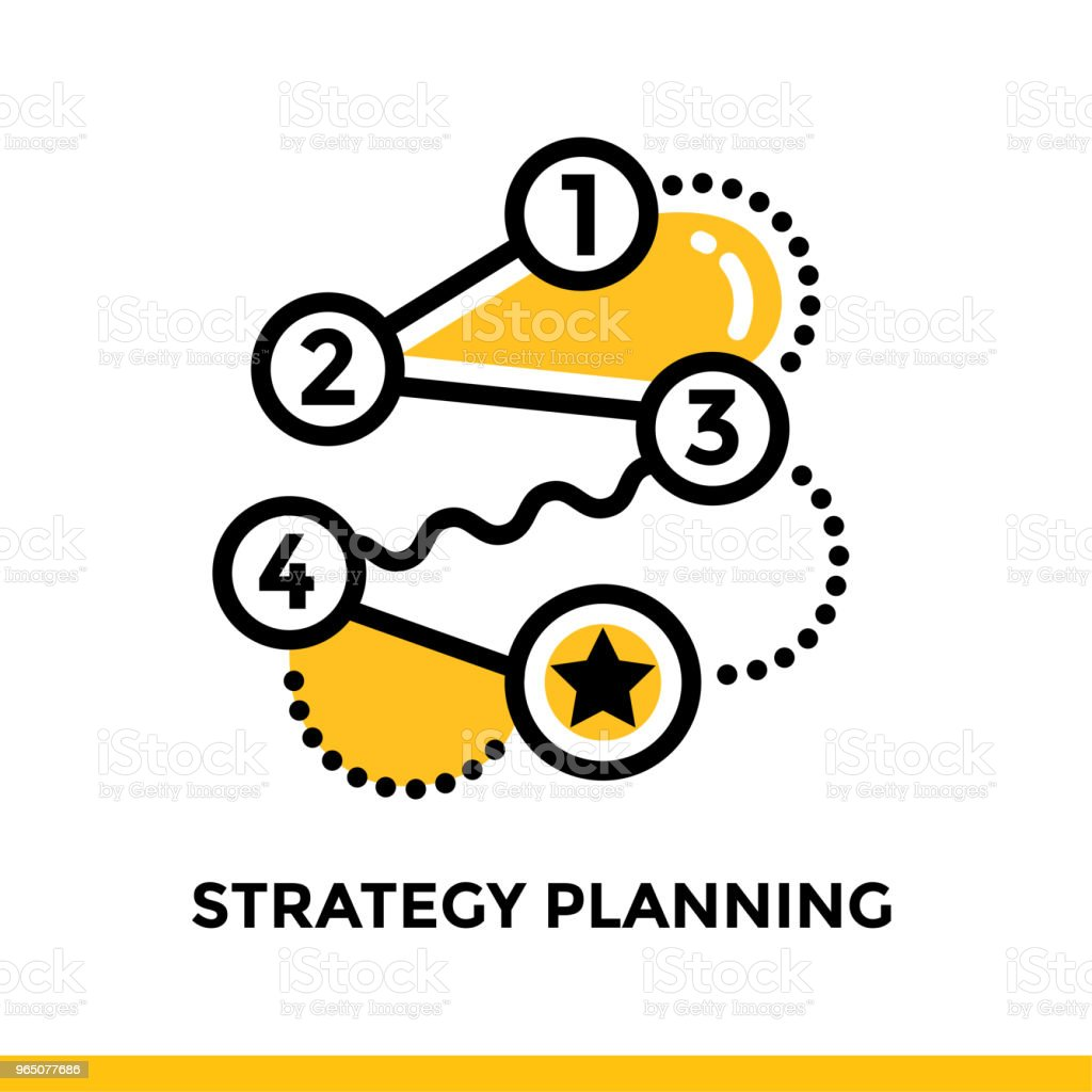 Linear strategy planning icon for startup business. Pictogram in outline style. Vector flat line icon suitable for mobile apps, websites and presentation royalty-free linear strategy planning icon for startup business pictogram in outline style vector flat line icon suitable for mobile apps websites and presentation stock vector art & more images of business