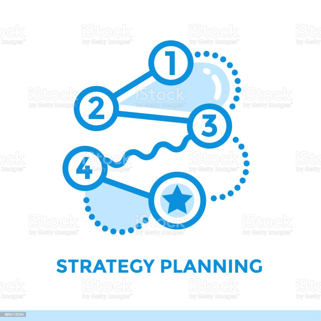 Linear strategy planning icon for startup business. Pictogram in outline style. Vector flat line icon suitable for mobile apps, websites and presentation linear strategy planning icon for startup business pictogram in outline style vector flat line icon suitable for mobile apps websites and presentation - stockowe grafiki wektorowe i więcej obrazów bez ludzi royalty-free